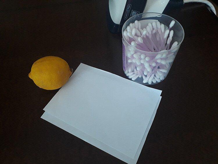 Невидимые чернила из лимонного сока в домашних условиях
