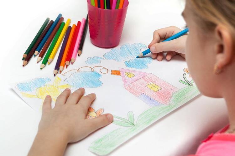 Рисование карандашами с детьми 5-6 лет