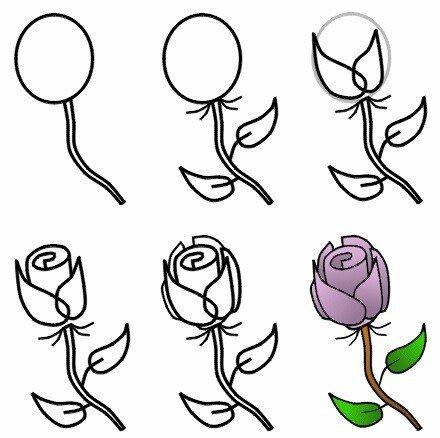 Рисуем розу с детьми