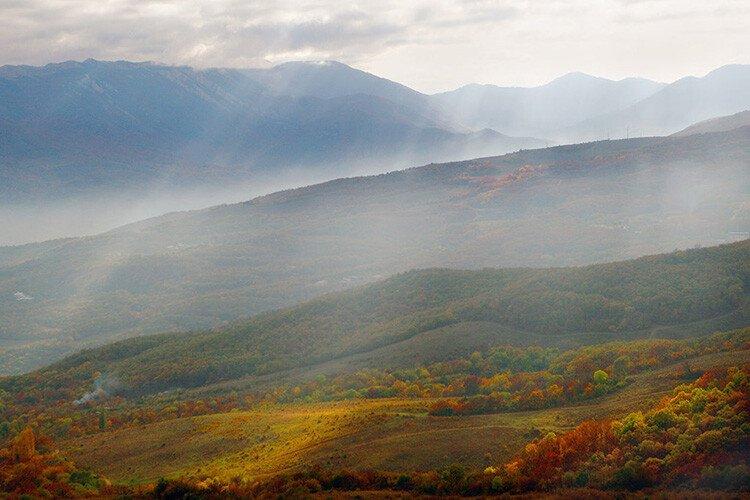 Воздушная перспектива для детей Горы