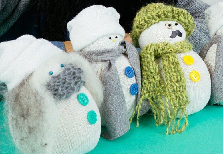 Поделка Снеговик своими руками на Новый год